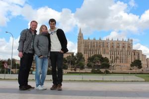 v.l. Florian Rappen, Madlen Schwazenberger & Oliver Schneider auf Mallorca
