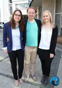 v.l. Luisa Ziegler, Florian Rappen & Katharina Lauth-Angermüller